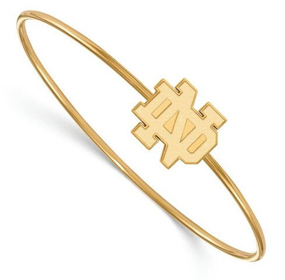 Notre Dame Fighting Irish Gold Plated Sterling Silver Bracelet