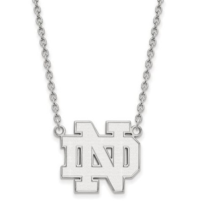 University of Notre Dame Fighting Irish Sterling Silver Large Pendant Necklace