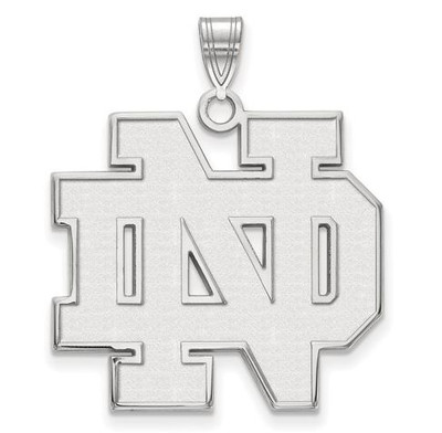 University of Notre Dame Fighting Irish Sterling Silver Extra Large Pendant