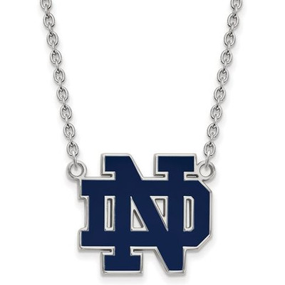 Notre Dame Fighting Irish Sterling Silver Large Pendant Necklace