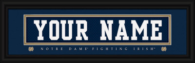 Notre Dame Fighting Irish Personalized Jersey Stitch Print