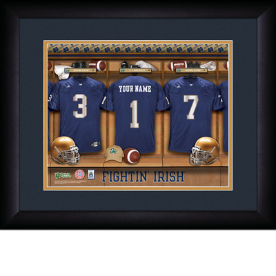Notre Dame Fighting Irish Personalized Locker Room Print