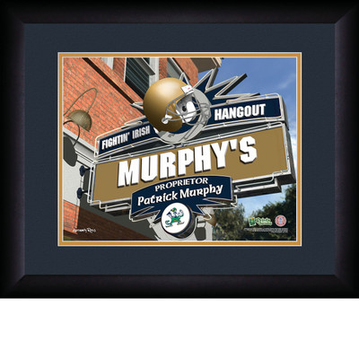 Notre Dame Fighting Irish Personalized Pub Print