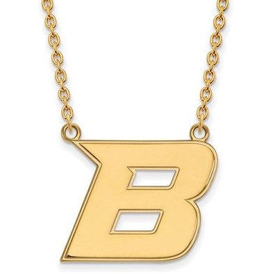 Boise State University Sterling Silver Gold Plated Large Pendant Necklace