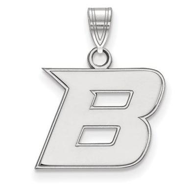 Boise State University 10k White Gold Small Pendant