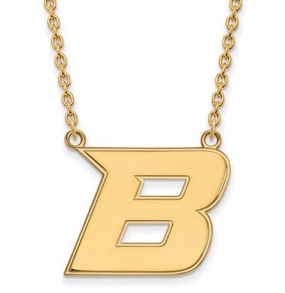 Boise State University 14k Yellow Gold Large Pendant Necklace
