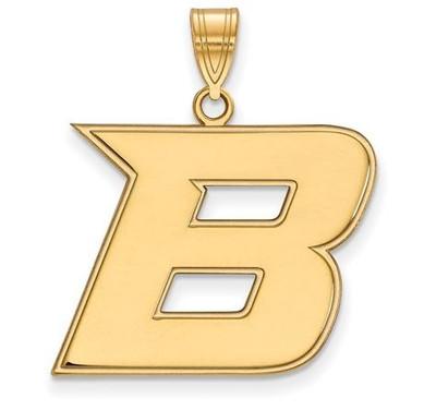 Boise State University 10k Yellow Gold Large Pendant