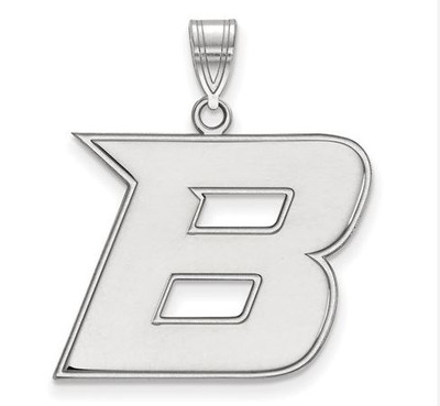 Boise State University 10k White Gold Large Pendant