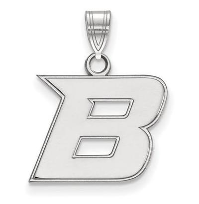 Boise State University 14k White Gold Small Pendant
