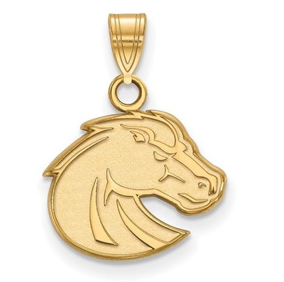 Boise State University Sterling Silver Gold Plated Small Pendant