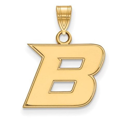 Boise State Broncos 14k Yellow Gold Small Pendant