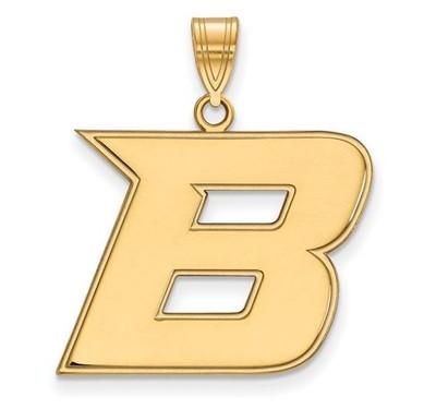 Boise State Broncos 14k Yellow Gold Large Pendant