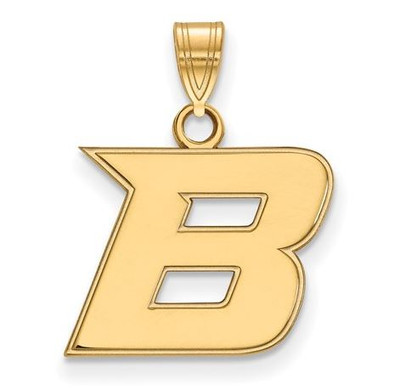 Boise State University 10k Yellow Gold Small Pendant | Logo Art | 1Y005BOS