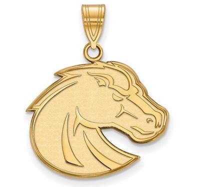 Boise State Broncos 10k Yellow Gold Large Pendant