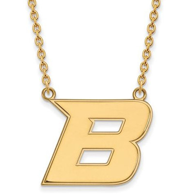 Boise State University 10k Yellow Gold Large Pendant Necklace