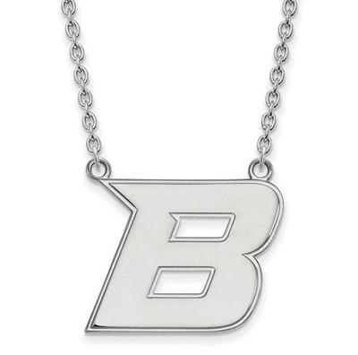 Boise State University 10k White Gold Large Pendant Necklace