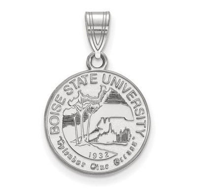 Boise State University Sterling Silver Medium Crest Pendant