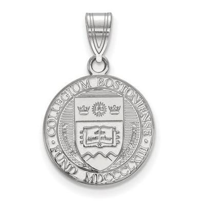Boston College Sterling Silver Medium Crest Pendant