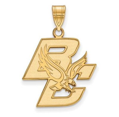 Boston College Sterling Silver Gold Plated Large Pendant