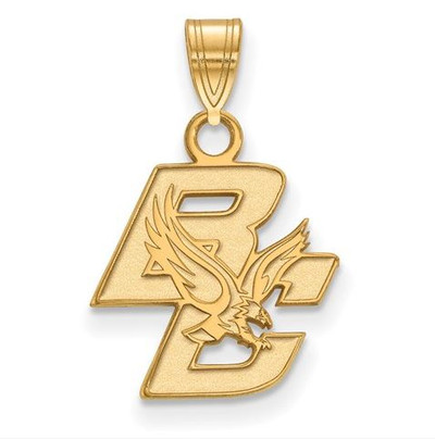 Boston College Sterling Silver Gold Plated Small Pendant