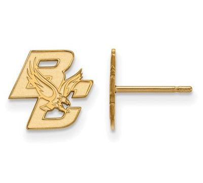 Boston College Gold Plated Sterling Silver Extra Small Post Earrings