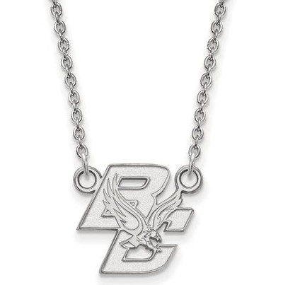 Boston College Sterling Silver Small Pendant With Necklace