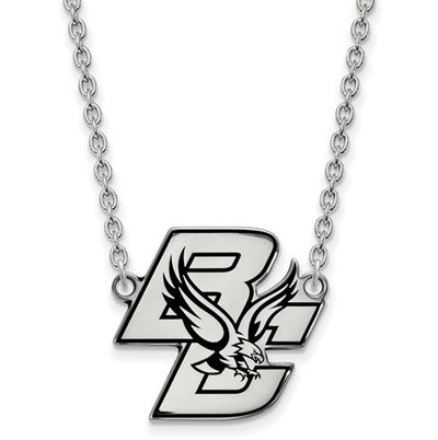 Boston College Sterling Silver Large Enameled Pendant Necklace