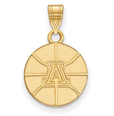University of Arizona Sterling Silver Gold Plated Small Pendant