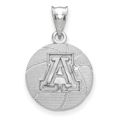 University of Arizona Sterling Silver Basketball Pendant