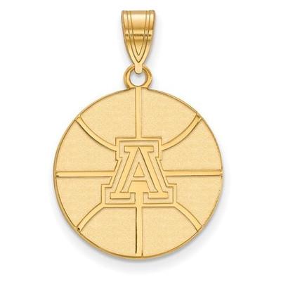 University of Arizona Sterling Silver Gold Plated Large Pendant