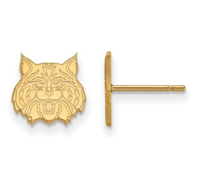 University of Arizona 10k Yellow Gold Extra Small Post Earrings