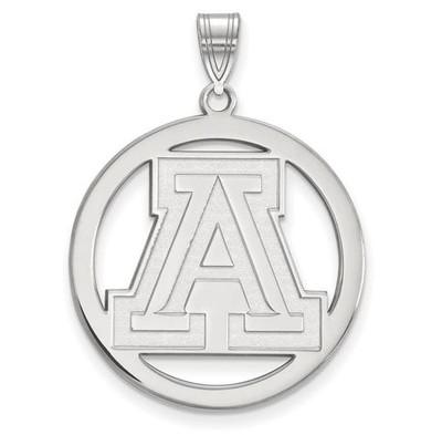 University of Arizona Sterling Silver Large Circle Pendant