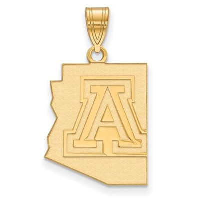 University of Arizona Wildcats Sterling Silver Gold Plated Large Pendant