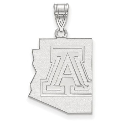University of Arizona Sterling Silver Large Pendant