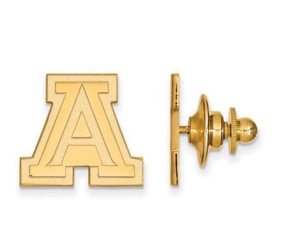 University of Arizona Sterling Silver Gold Plated Lapel Pin