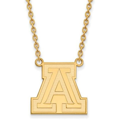 University of Arizona 10k Yellow Gold Large Pendant Necklace