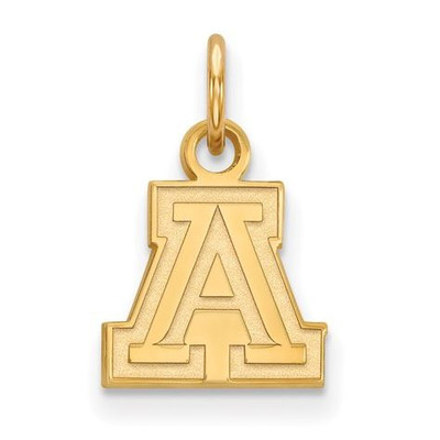 University of Arizona Sterling Silver Gold Plated Extra Small Pendant