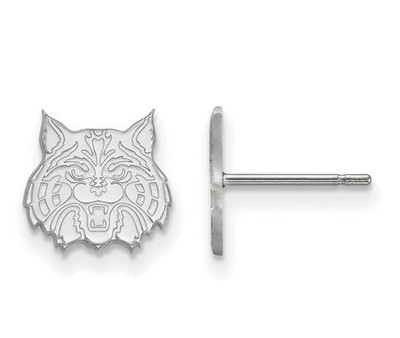 University of Arizona 14k White Gold Extra Small Post Earrings