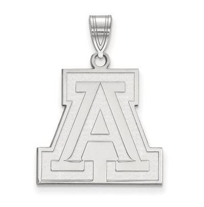 University of Arizona 10k White Gold Large Pendant