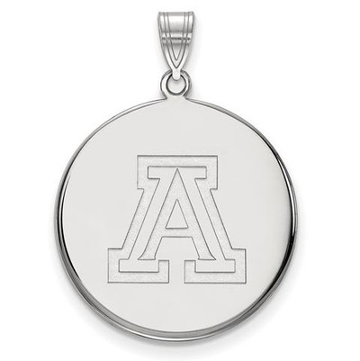 University of Arizona 10k White Gold Extra Large Disc Pendant