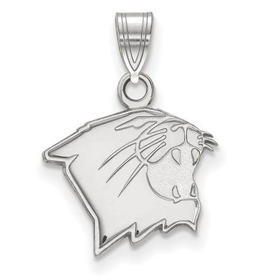 Northwestern University 10k White Gold Small Pendant