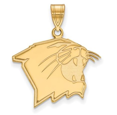 Northwestern University Wildcats 14k Yellow Gold Large Pendant