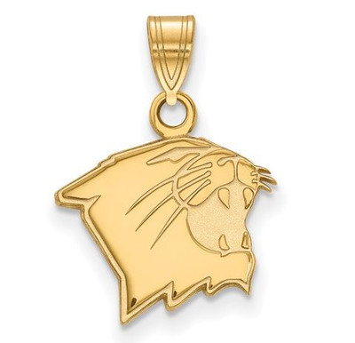 Northwestern University Sterling Silver Gold Plated Small Pendant