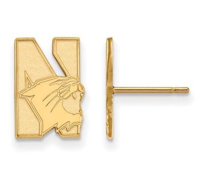 Northwestern University 14k Yellow Gold Small Post Earrings