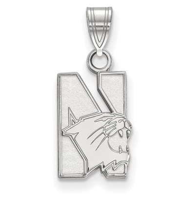 Northwestern University 14k White Gold Small Pendant