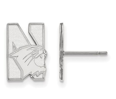 Northwestern University Sterling Silver Small Post Earrings