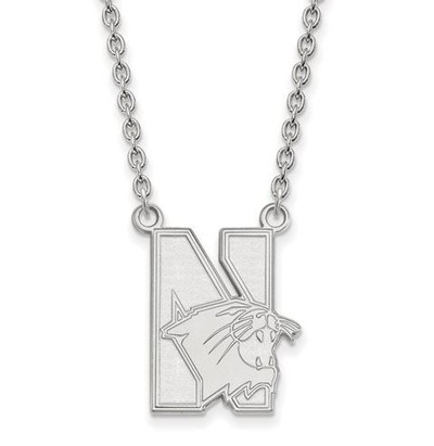 Northwestern University 14k White Gold Large Pendant Necklace