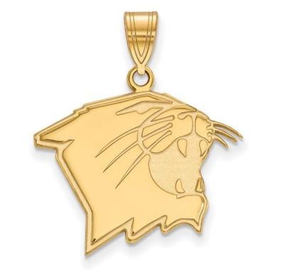 Northwestern University Sterling Silver Gold Plated Large Pendant