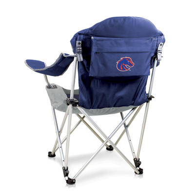 Boise State Broncos Reclining Camp Chair - Navy | Picnic Time | 803-00-138-704-0
