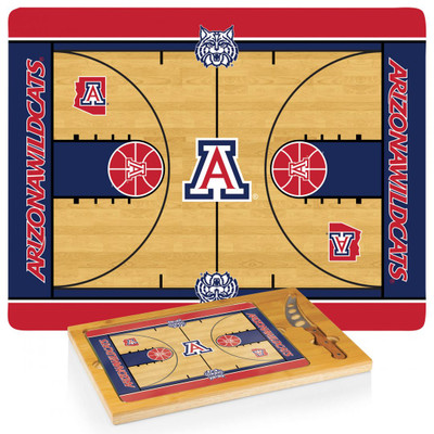 Arizona Wildcats Basketball Icon Cheese Tray